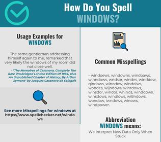 Correct spelling for WINDOWS