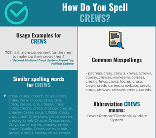 Correct spelling for CREWS