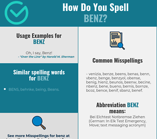 Correct spelling for BENZ