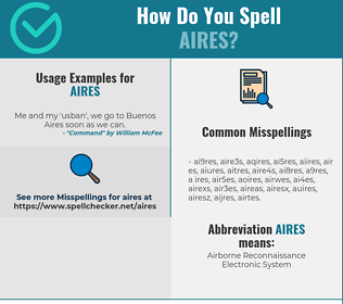 Correct spelling for AIRES