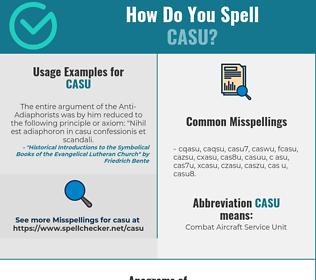 Correct spelling for CASU
