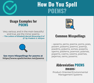 Correct spelling for POEMS