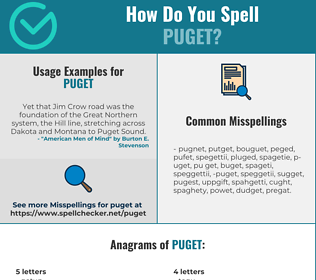 Correct spelling for PUGET