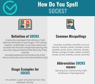 Correct spelling for SOCKS