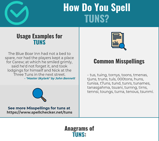 Correct spelling for TUNS