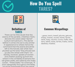 Correct spelling for tares