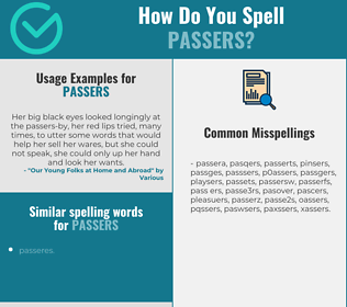 Correct spelling for passers