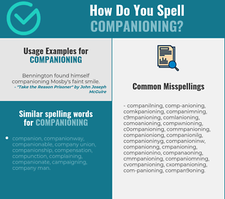 Correct spelling for companioning