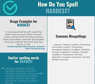 Correct spelling for hardest