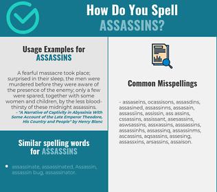 Correct spelling for assassins