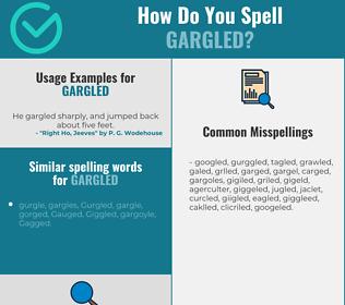 Correct spelling for gargled