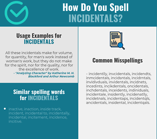 Correct spelling for incidentals