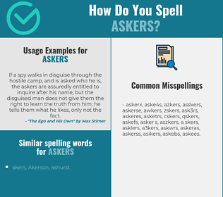 Correct spelling for askers