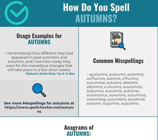 Correct spelling for autumns