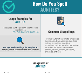 Correct spelling for aunties