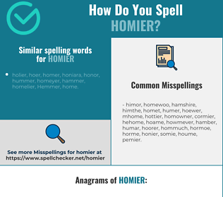 Correct spelling for homier
