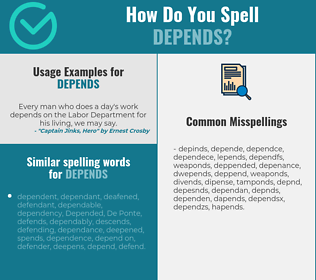 Correct spelling for depends
