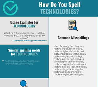 Correct spelling for technologies
