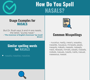Correct spelling for nasals
