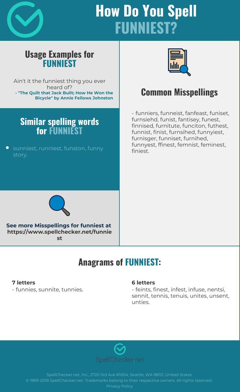 Correct spelling for funniest [Infographic]   Spellchecker net