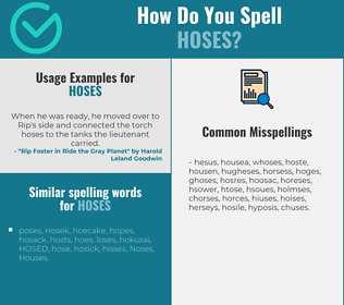 Correct spelling for hoses