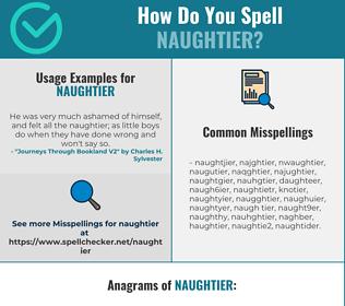 Correct spelling for naughtier