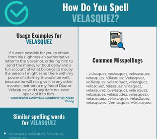 Correct spelling for Velasquez
