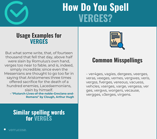 Correct spelling for verges