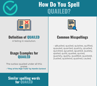 Correct spelling for quailed
