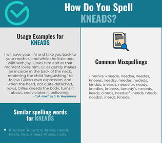 Correct spelling for kneads