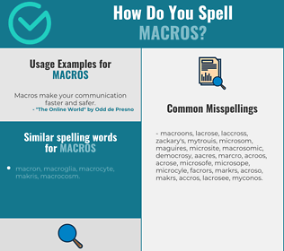 Correct spelling for macros