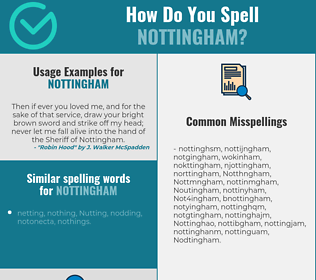 Correct spelling for Nottingham