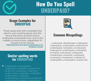 Correct spelling for underpaid