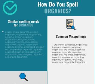 Correct spelling for organics