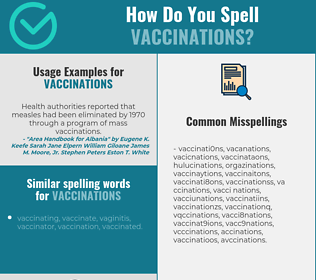 Correct spelling for vaccinations