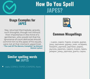 Correct spelling for japes