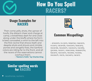 Correct spelling for racers