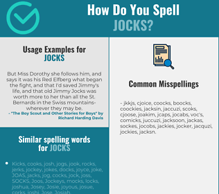 Correct spelling for jocks