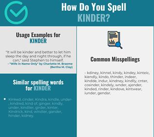 Correct spelling for kinder