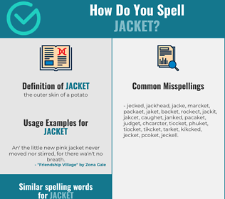 Correct spelling for jacket