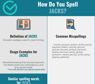 Correct spelling for jacks