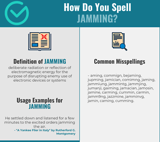 Correct spelling for jamming