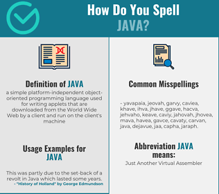 Correct spelling for java