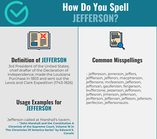 Correct spelling for jefferson