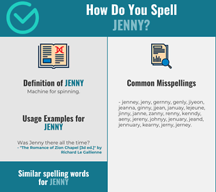 Correct spelling for jenny