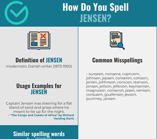 Correct spelling for jensen