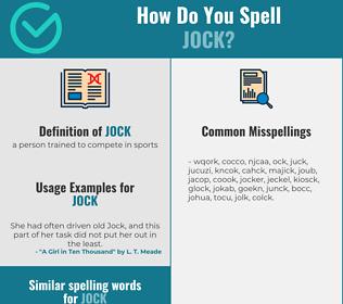 Correct spelling for jock