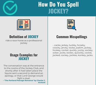 Correct spelling for jockey