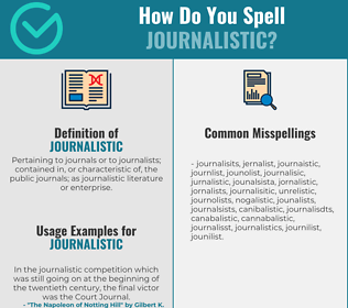 Correct spelling for journalistic