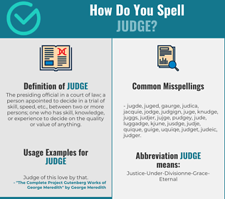 Correct spelling for judge